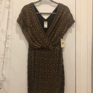 Ali Ro Lace Gold Latte Lace Dress